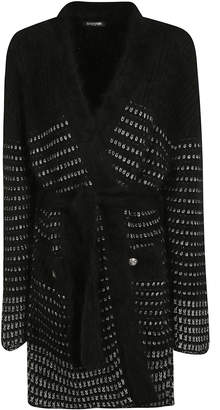 Balmain V-neck Belt-tie Cardigan