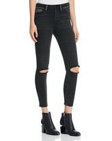 Free People Vintage Stretch Studded Skinny Jeans in Black