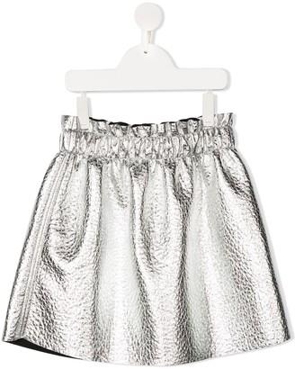 Andorine Wrinkled Metallic Effect Skirt