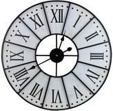 BEIGE Sorbus Metal Wall Clock