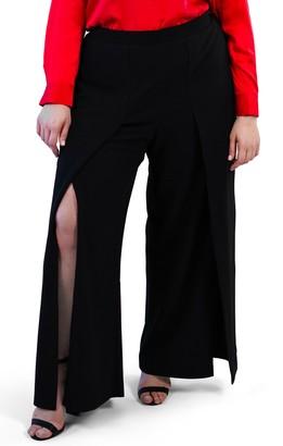 Maree Pour Toi Slit Front Wide Leg Pants