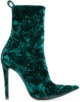 Haider Ackermann crushed velvet ankle boots