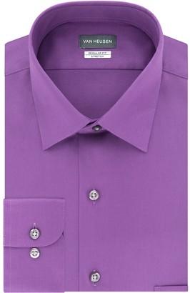 Van Heusen Men's Regular-Fit Lux Sateen Stretch Dress Shirt