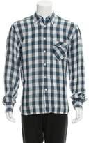 Billy Reid Check Linen Shirt