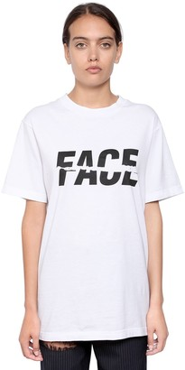 Facetasm Logo Print Cotton Jersey T-Shirt