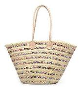 Etincelles New Women's Panier Artisanal Rayure Sequin Multi In Multicolor