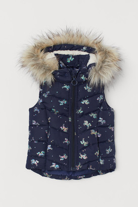 H&M Padded gilet with a hood