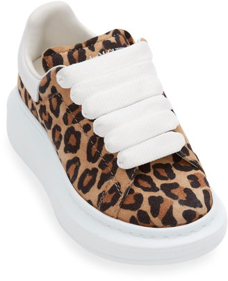 Alexander McQueen Leopard-Print Suede Chunky Sneakers, Toddler/Kids