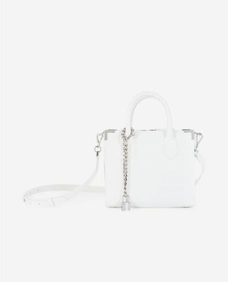 The Kooples Ming medium white croc-print bag in leather