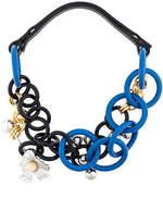 Marni acrylic link chain necklace