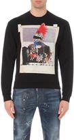 DSQUARED2 dean fit punk print sweatshirt
