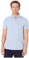 Tommy Hilfiger Ivy Polo Shirt Custom Fit (Malaga Blue Heather) Men's Clothing