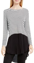 Vince Camuto Two by Curb Stripe Crewneck Tunic