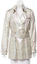 Catherine Malandrino Linen-Blend Trench Coat