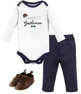Little Treasures Little Treasure Baby Boy Long Sleeve Bodysuit, Pants & Shoes, 3pc Outfit Set