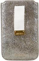 Jimmy Choo Metallic Leather Phone Case