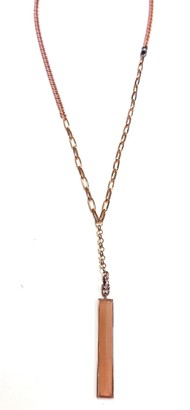 Paige Novick Rose Gold Crystal Pyramid Necklace