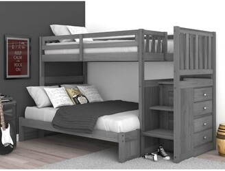 "Greyleighâ""¢ Orval Twin Over Full Bunk Bed with 3 Drawers Greyleigha Bed Frame Color: Charcoal"