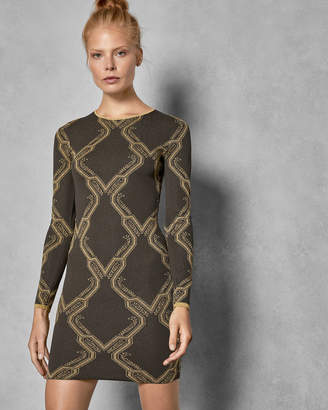 Ted Baker HILIYA Ice Palace knitted dress