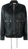 Saint Laurent slouchy parka jacket - women - Lamb Skin - 36