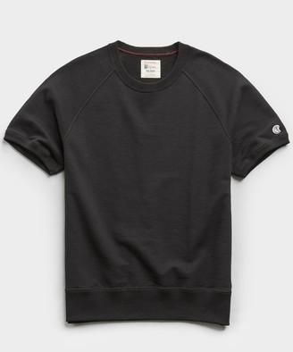 Todd Snyder + Champion Terry Short Sleeve Sweatshirt in Black