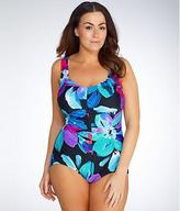 Maxine Of Hollywood Flourish Girl Leg Wire-Free Swimsuit Plus Size