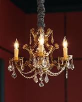 Horchow Golden Teak 4-Light Chandelier