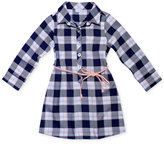 Sweet Heart Rose Belted Plaid Shirtdress, Toddler and Little Girls (2T-6X)