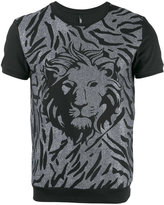 Versus lion head print T-shirt - men - Cotton - L