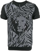 Versus lion head print T-shirt - men - Cotton - M