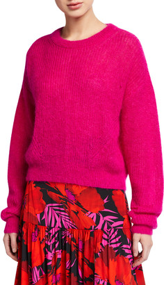 Veronica Beard Melinda Mohair Crewneck Sweater