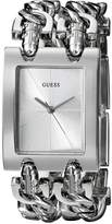 GUESS GUESS? Women's G75916L Brilliance on Links Silver-Tone Watch with Link Bracelets