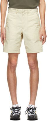 Norse Projects Beige Aaro 60/40 Fatigue Shorts