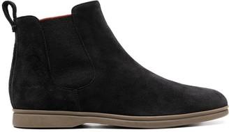 Loro Piana Slip-On Leather Boots