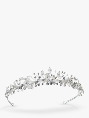 Ivory & Co. Elva Freshwater Pearls and Austrian Crystals Tiara, Silver