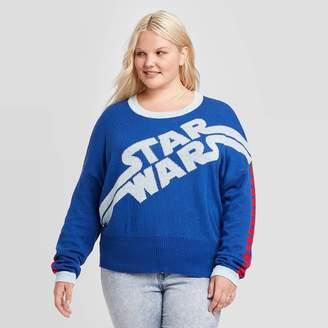 Star Wars Women's Plus Size Crewneck Graphic Sweater - (Juniors') -