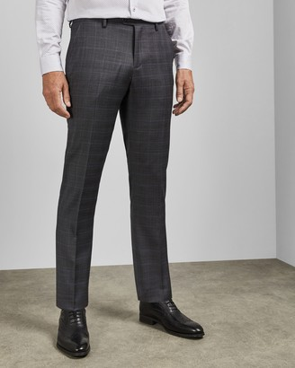 Ted Baker FEENTT Tall Endurance checked wool trousers