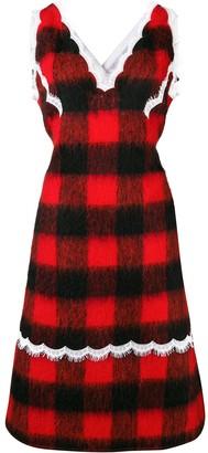 Calvin Klein Check Apron Dress