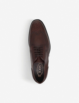 Tod's Brogued leather derby shoes
