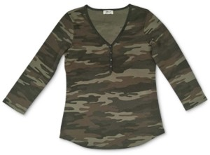 Style&Co. Style & Co Petite Camo-Print Top, Created for Macy's