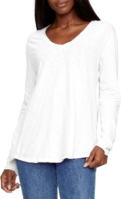 Michael Stars Janna Long Sleeve V-Neck T-Shirt