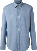 Theory Oxford shirt - men - Cotton/Spandex/Elastane - L