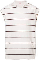 OSKLEN sleeveless striped hoodie - men - Cotton - P