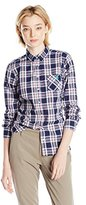 U.S. Polo Assn. Juniors' Long Sleeve Plaid Poplin Woven Shirt
