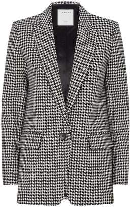 Sandro Houndstooth Check Tailored Blazer