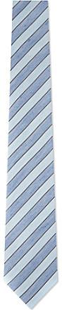 Armani Striped silk-linen tie