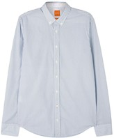 Boss Edipoe Blue Printed Cotton Shirt