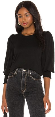 1 STATE Puff Shoulder Top