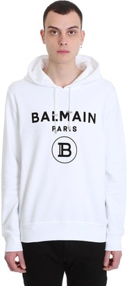 Balmain Sweatshirt In White Cotton