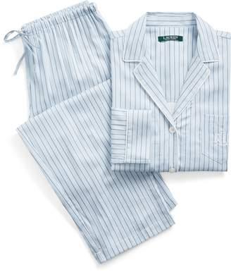 Ralph Lauren Striped Cotton-Blend Sleep Set